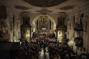 The concert in the church