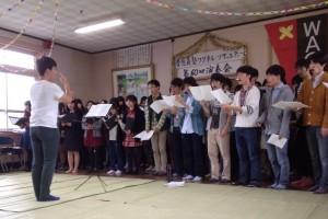 恵明学園園歌斉唱