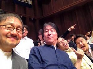 ワグネルの先生方。一番左は関学の広瀬先生です。いい表情ですね。